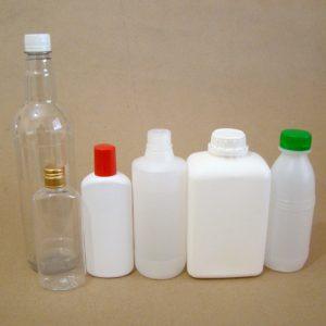 Embalagens de frascos de 161 a 1000ml.
