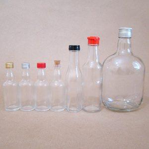 Embalagens, vidros para pimenta e pinga